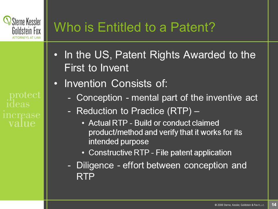 14 Who is Entitled to a Patent.
