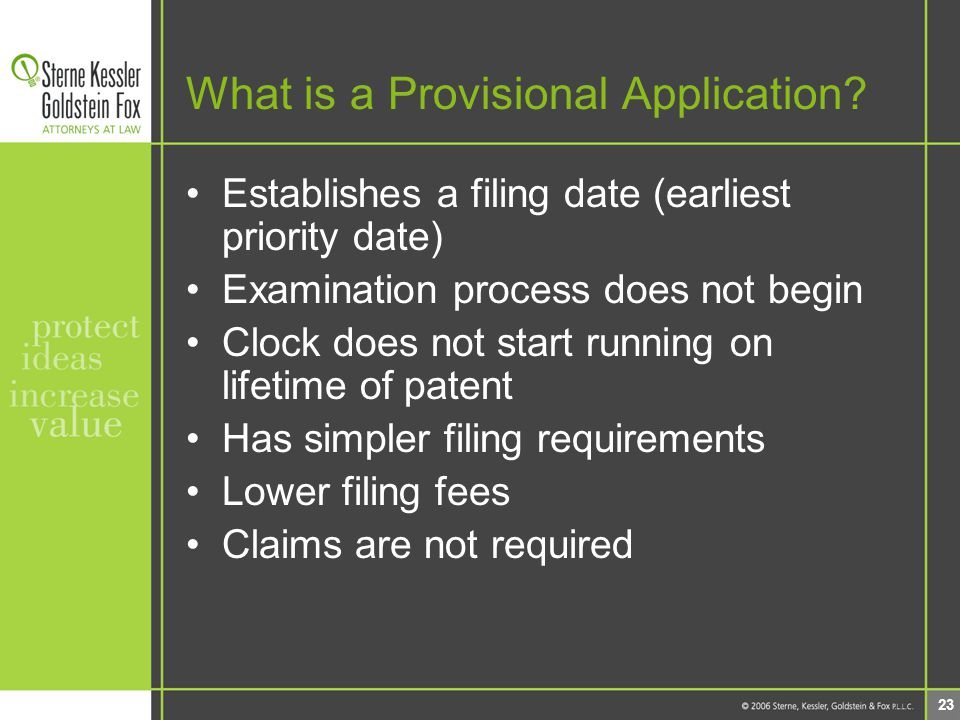 23 What is a Provisional Application.