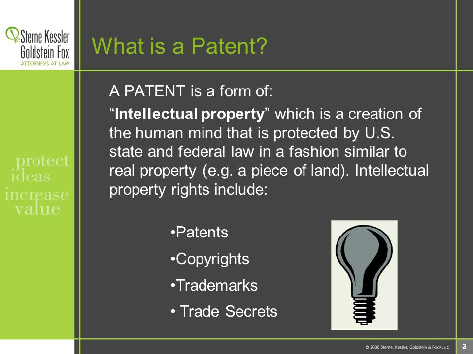 4 What is a Patent.The US Constitution, Art. I, sect.