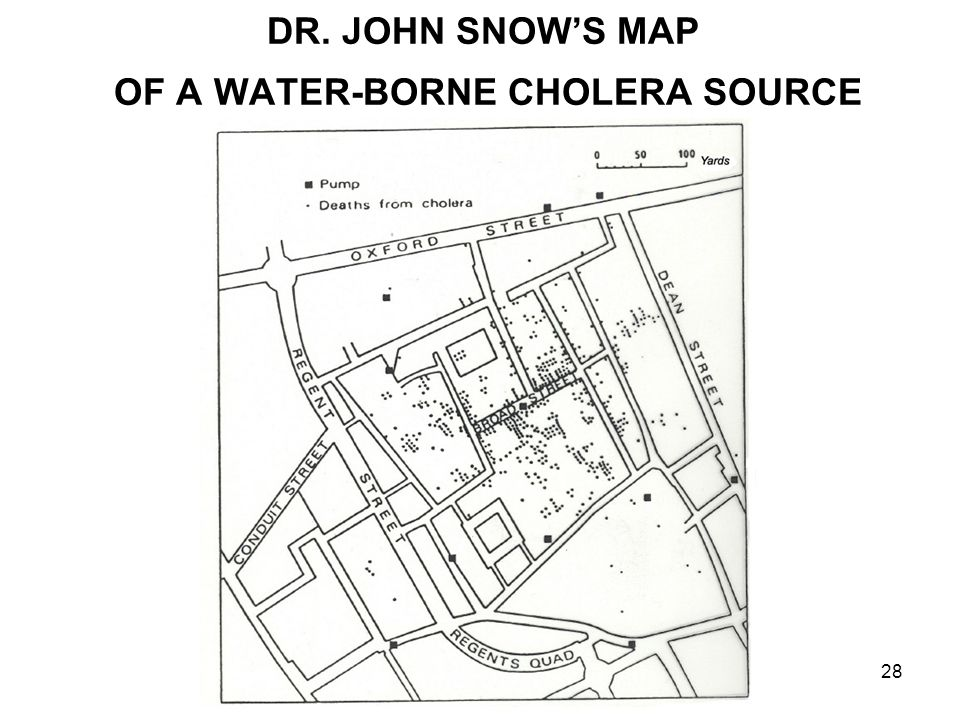Session 0128 DR. JOHN SNOW'S MAP OF A WATER-BORNE CHOLERA SOURCE