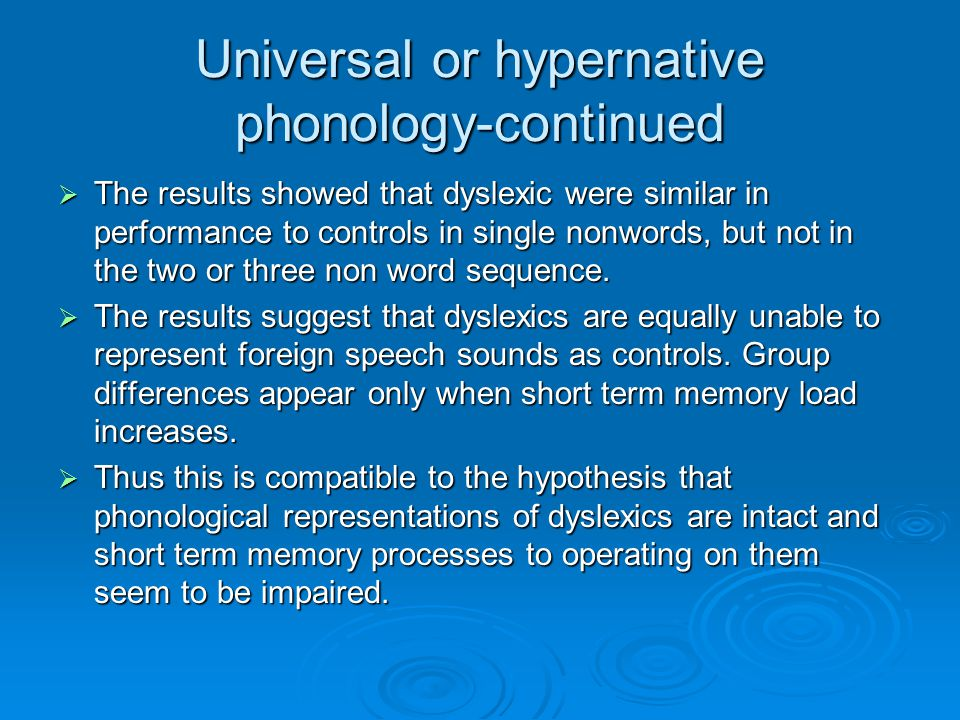 Phonological grammar-experiments  This is the whole host of rule like processes that apply in speech production when phonological lexical items and assembled to make phrases.