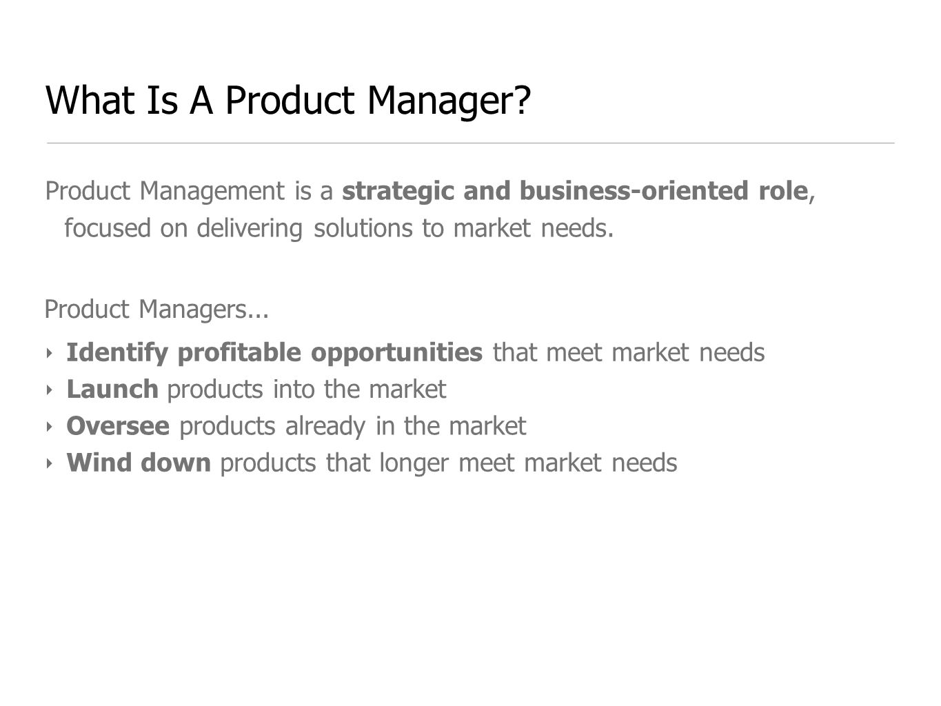 What Is A Product Manager.