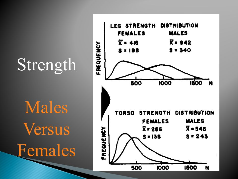 Strength Males Versus Females