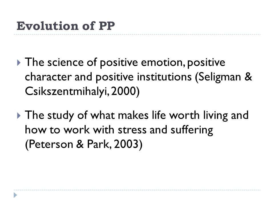 Conclusion  The future of Positive Psychology and Meaning Therapy depends on integrating both disciplines, resulting in Existential Positive Psychology (EPP).
