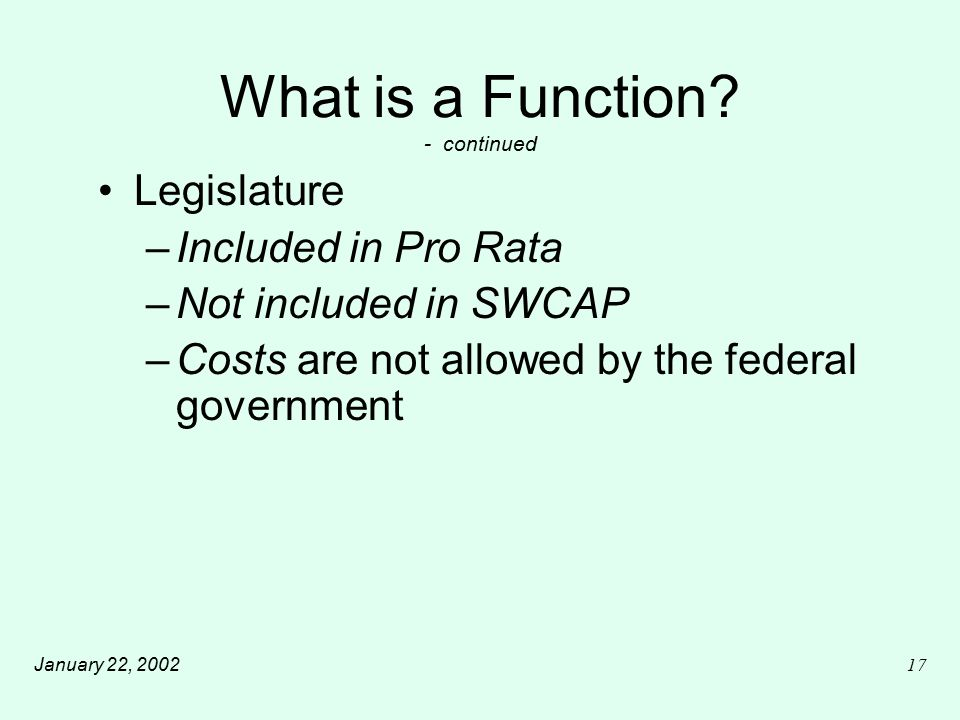 January 22, 200217 What is a Function.