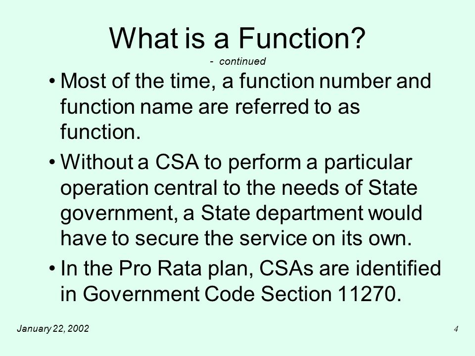 January 22, 20025 What is a Function.