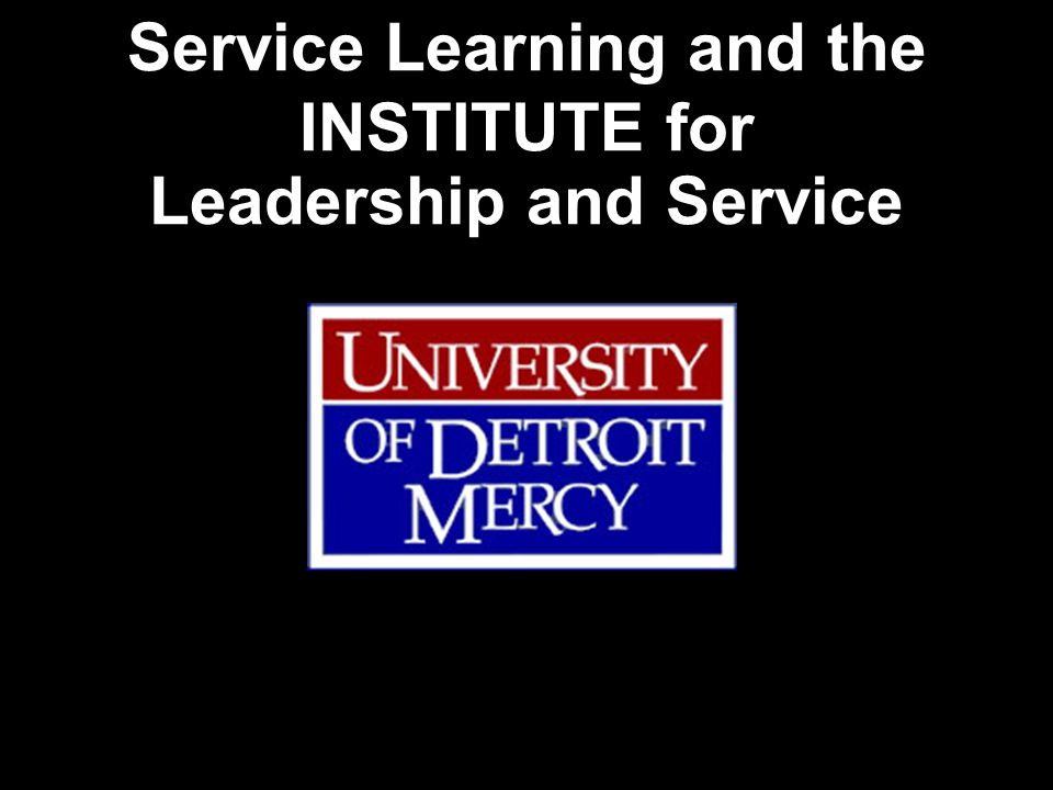 The University of Detroit Mercy, a Catholic university in the Jesuit and Mercy traditions, exists to provide excellent student-centered undergraduate and graduate education in an urban context.