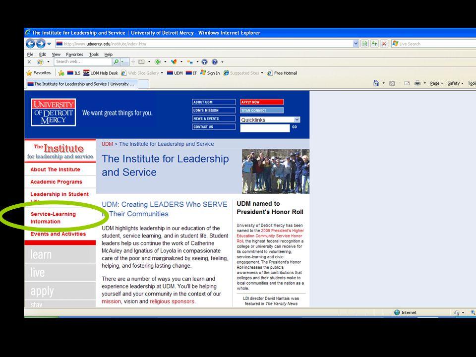 Web page: select SL