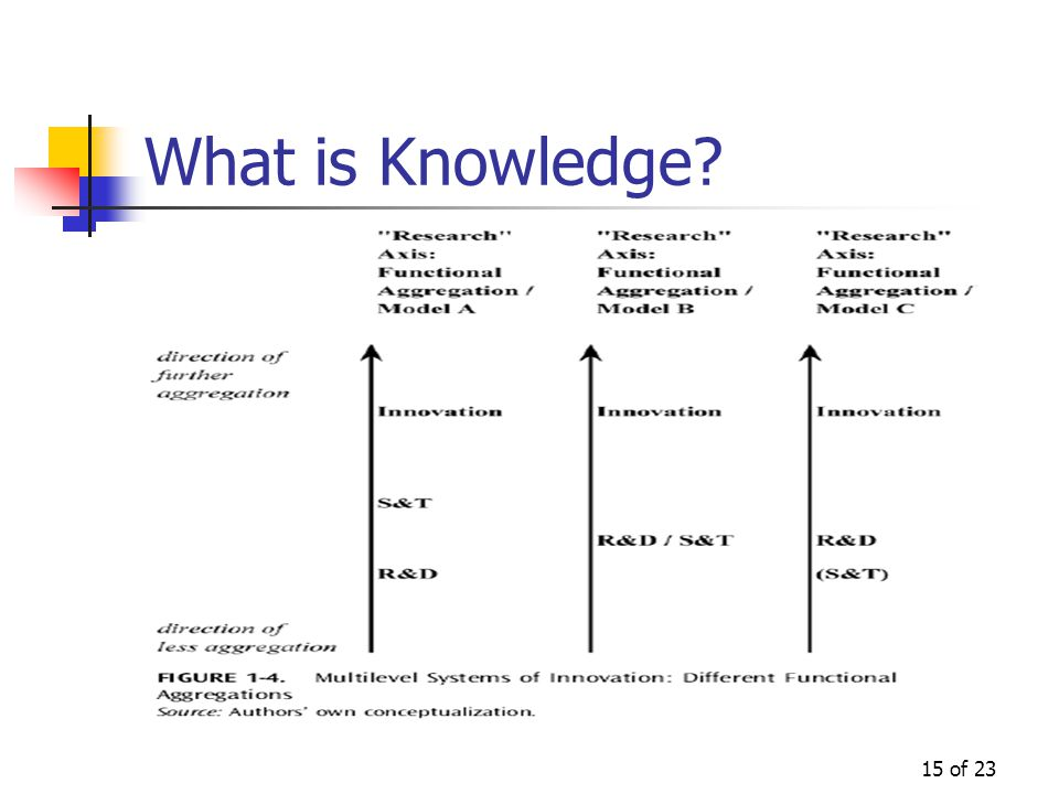 15 of 23 What is Knowledge?