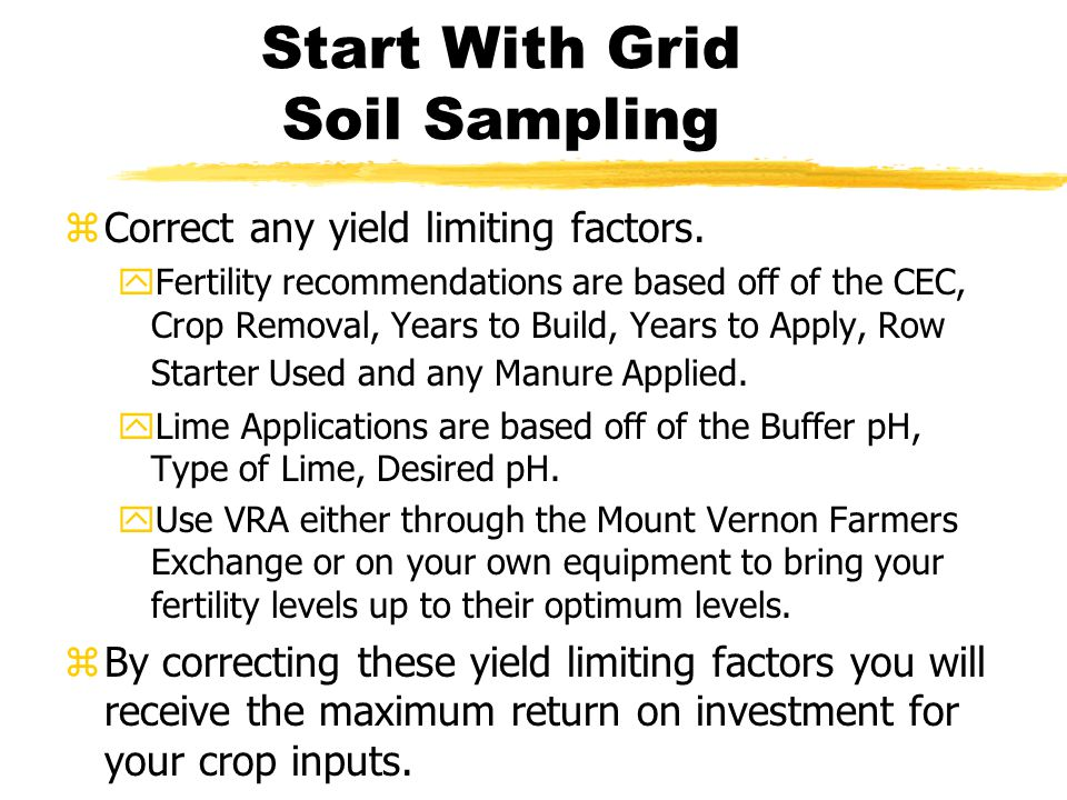 What your plan should include. zWhat do you want to obtain with Precision Ag.