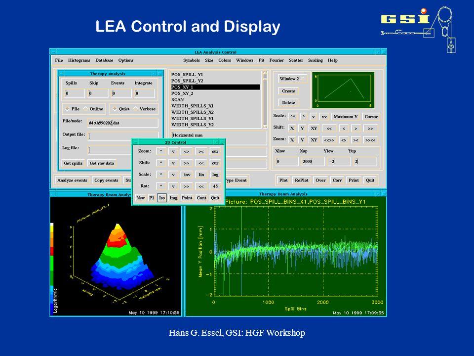 Hans G. Essel, GSI: HGF Workshop LEA Control and Display