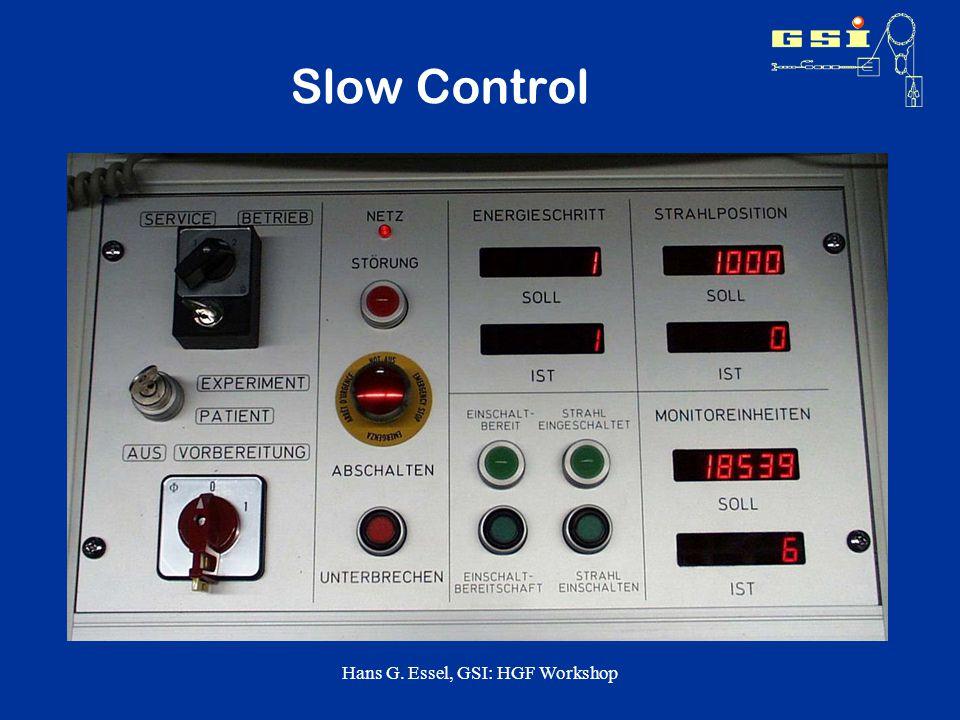 Hans G. Essel, GSI: HGF Workshop Slow Control