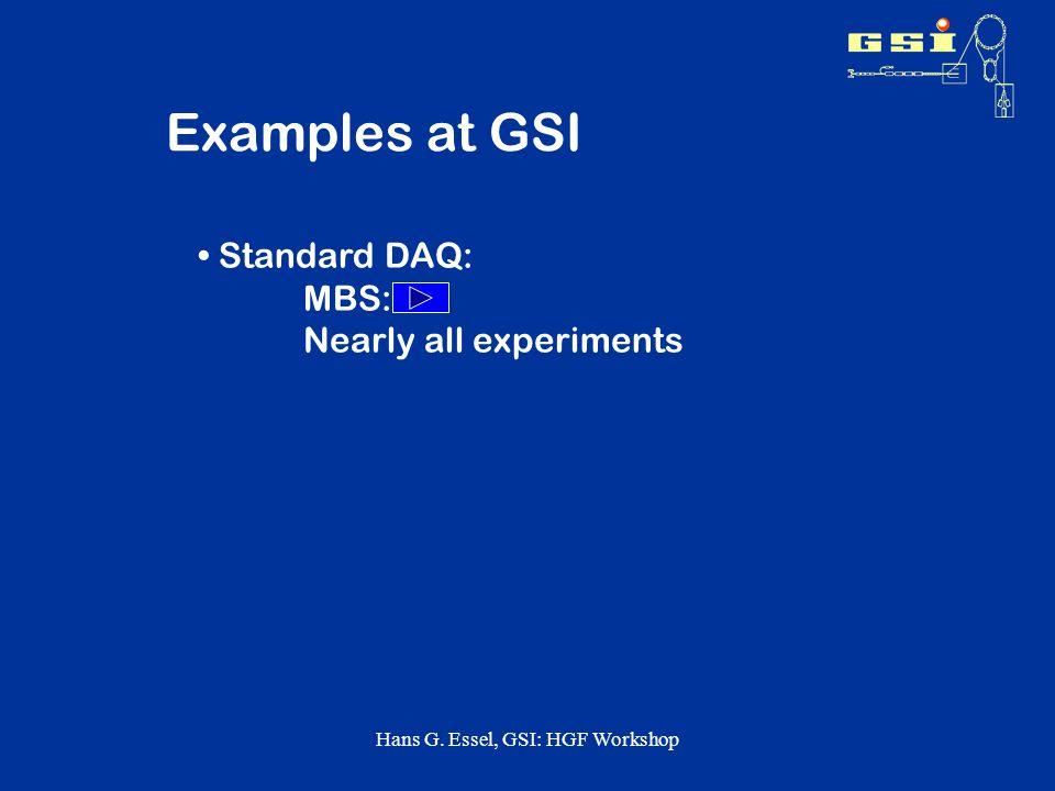 Hans G. Essel, GSI: HGF Workshop Analysis after the Treatment