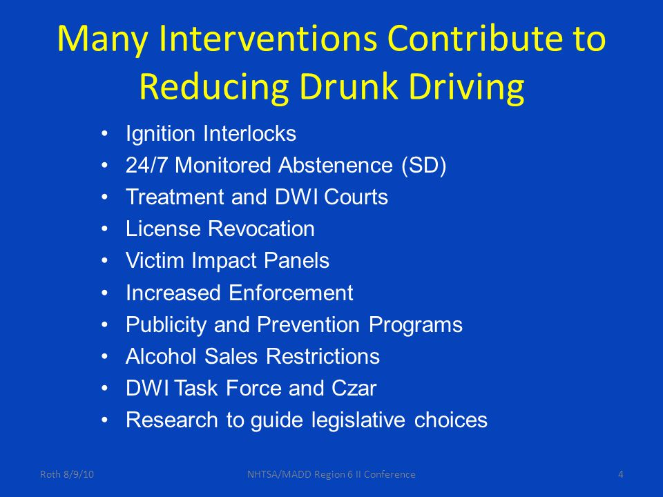 Which States Are Making the Most Progress At Reducing DWI.