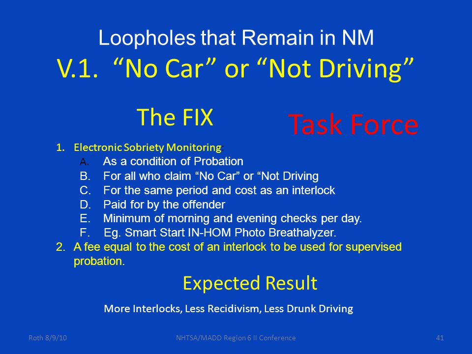Loopholes that Remain in NM V.1.