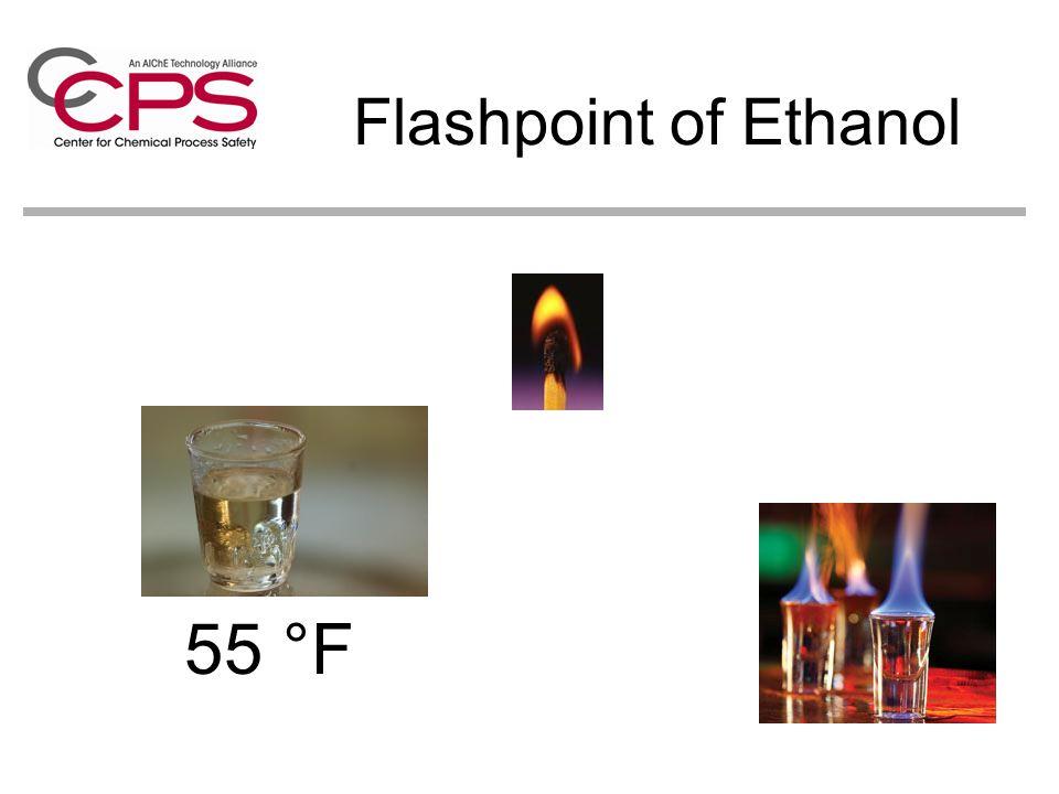 Flashpoint of Ethanol 55 °F