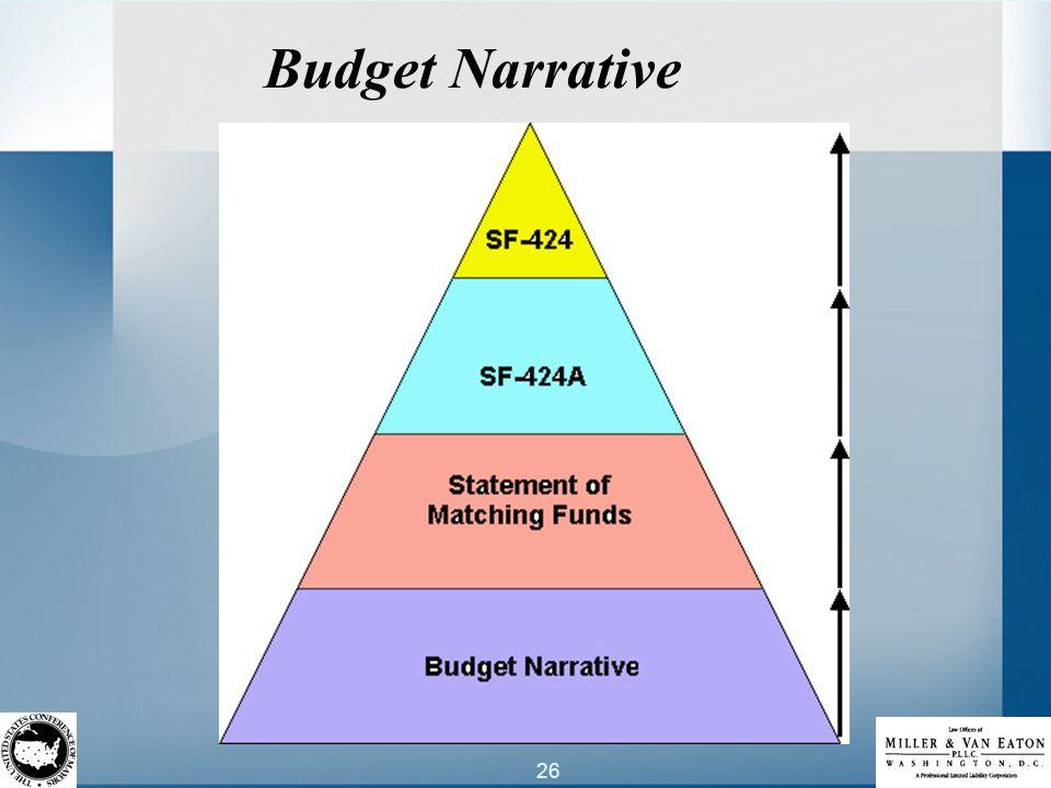 26 Budget Narrative