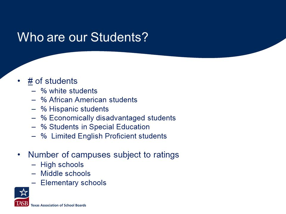 Who are our Students.