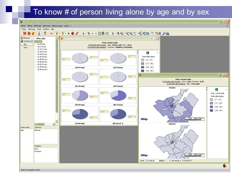 To know # of person living alone by age and by sex
