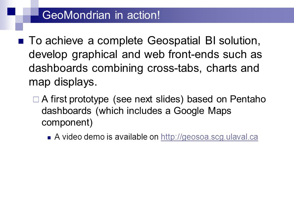 GeoMondrian in action.