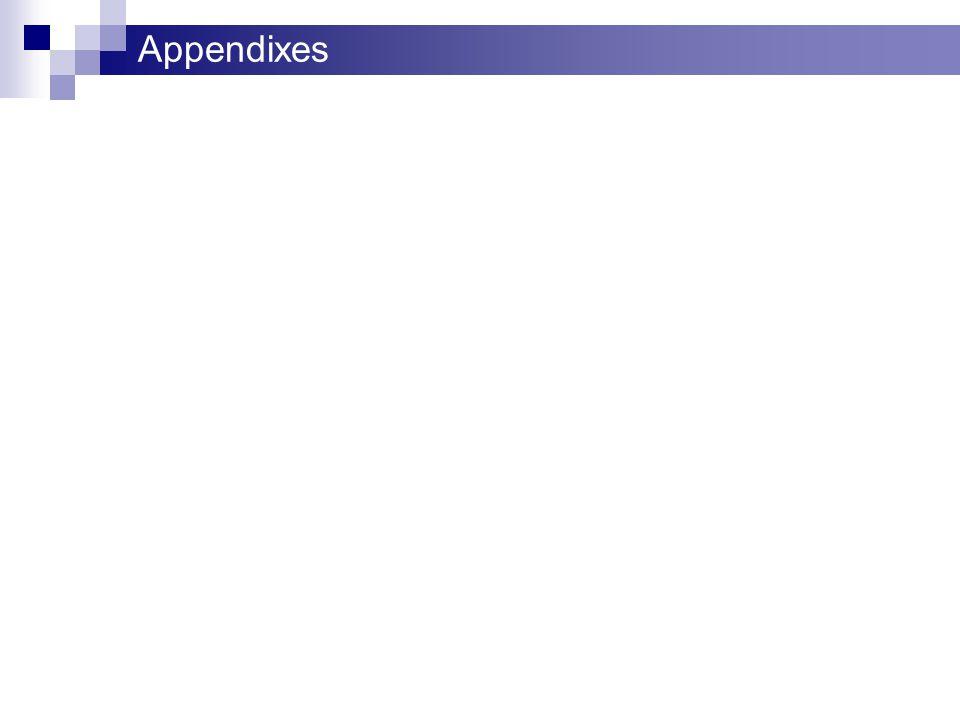 Appendixes