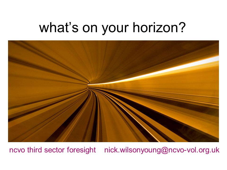 what's on your horizon ncvo third sector foresight