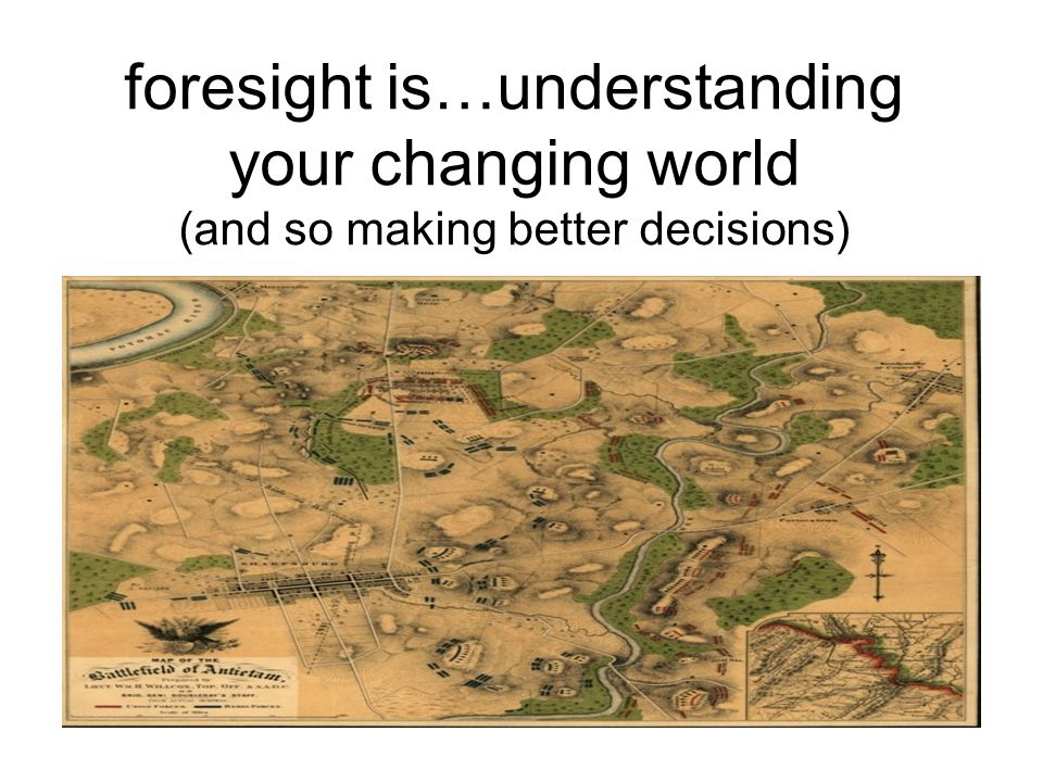 foresight is…understanding your changing world (and so making better decisions)