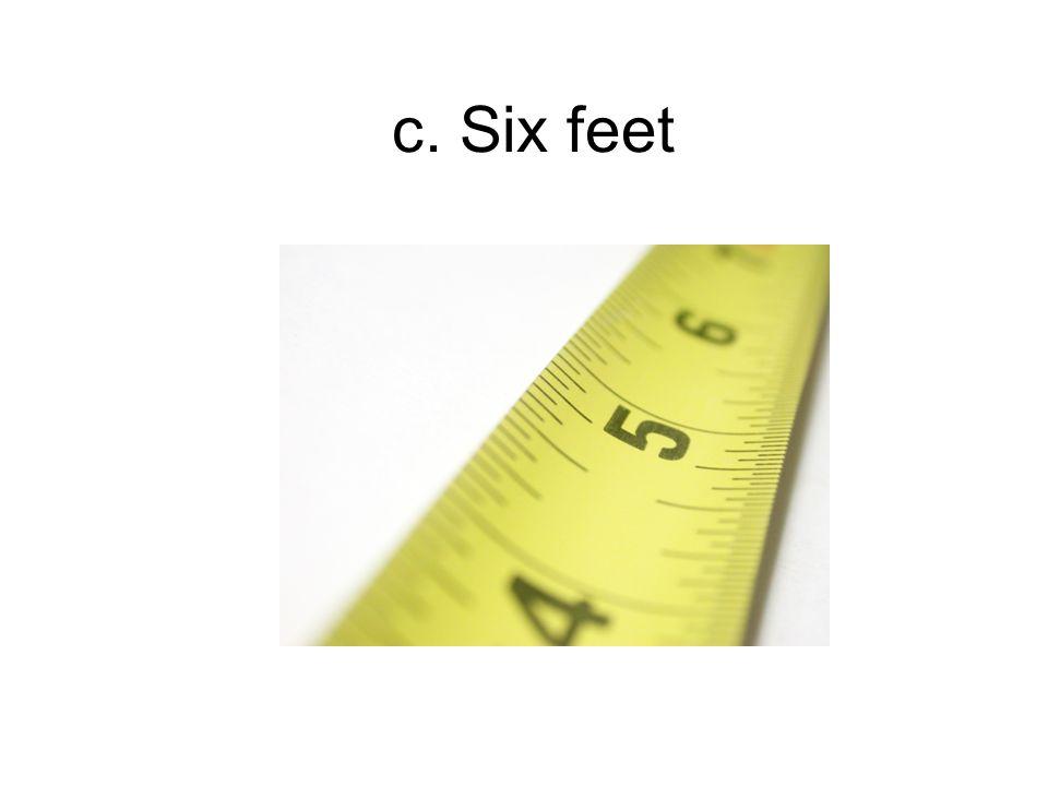 c. Six feet