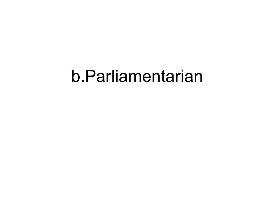 b.Parliamentarian