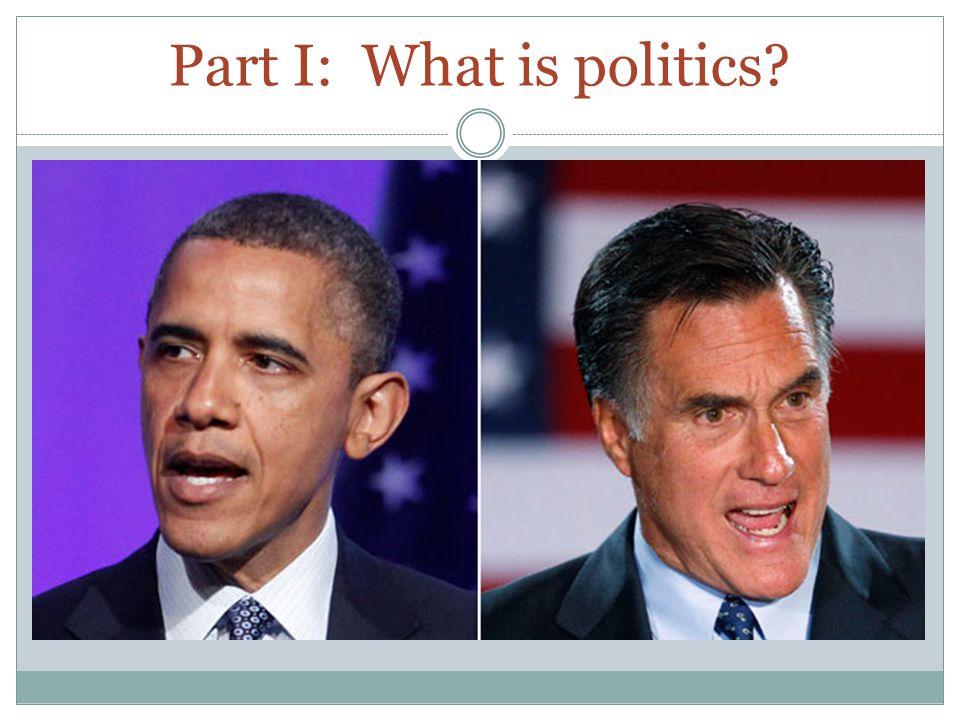 Part I: What is politics?