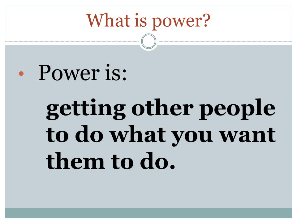 What is authority? Authority is: the legitimate right to use power. (i.e., the decision-maker).