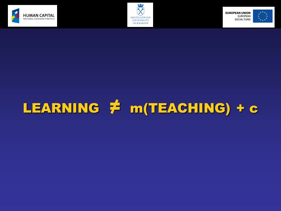 LEARNING = m(TEACHING) + c