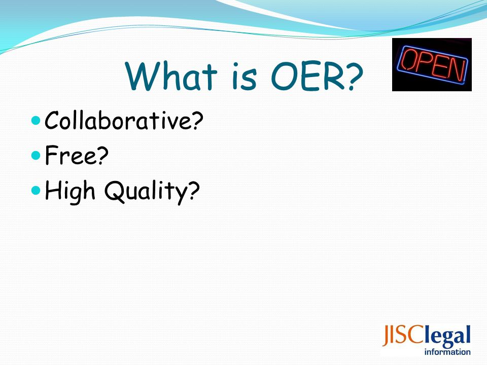 What is OER Collaborative Free High Quality