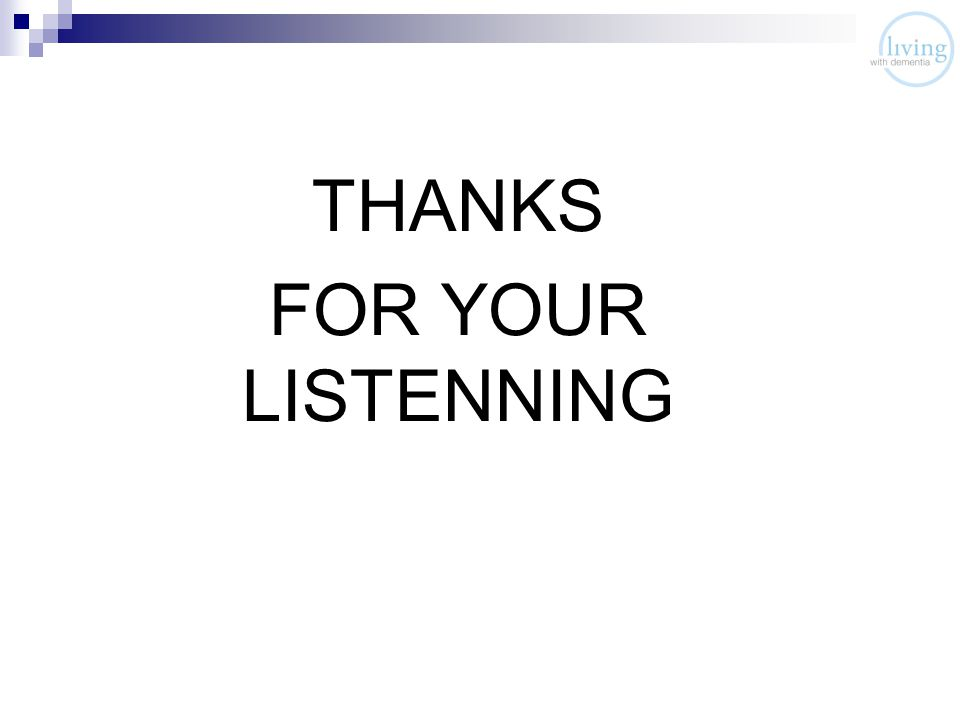 THANKS FOR YOUR LISTENNING