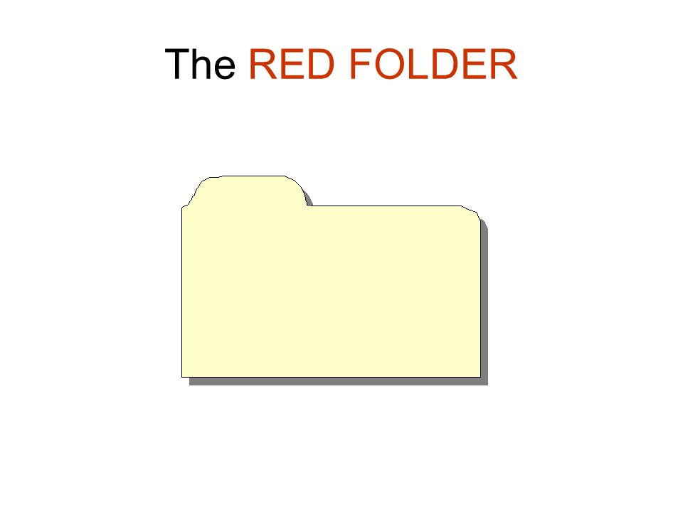 The RED FOLDER
