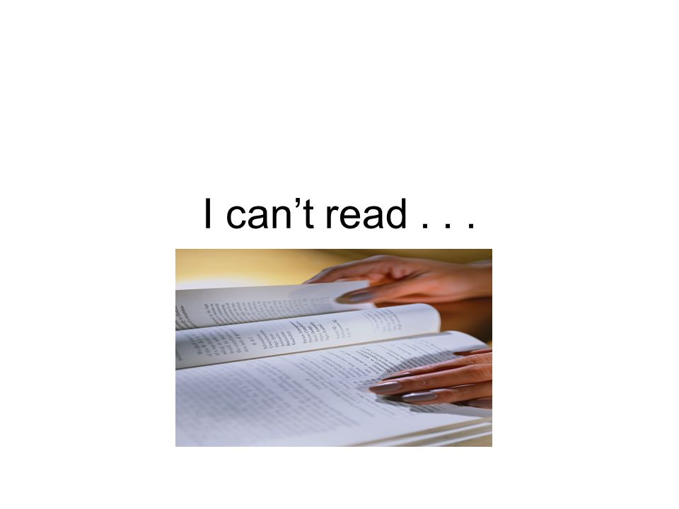 I can't read...
