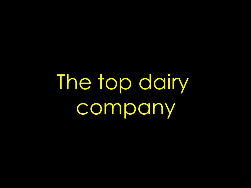 The top dairy company