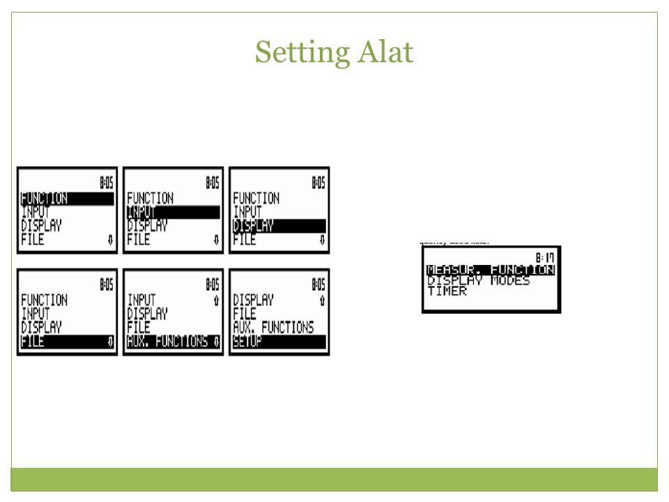 Setting Alat