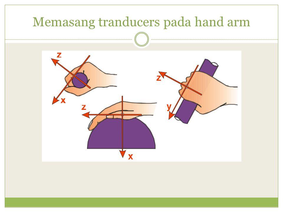 Memasang tranducers pada hand arm
