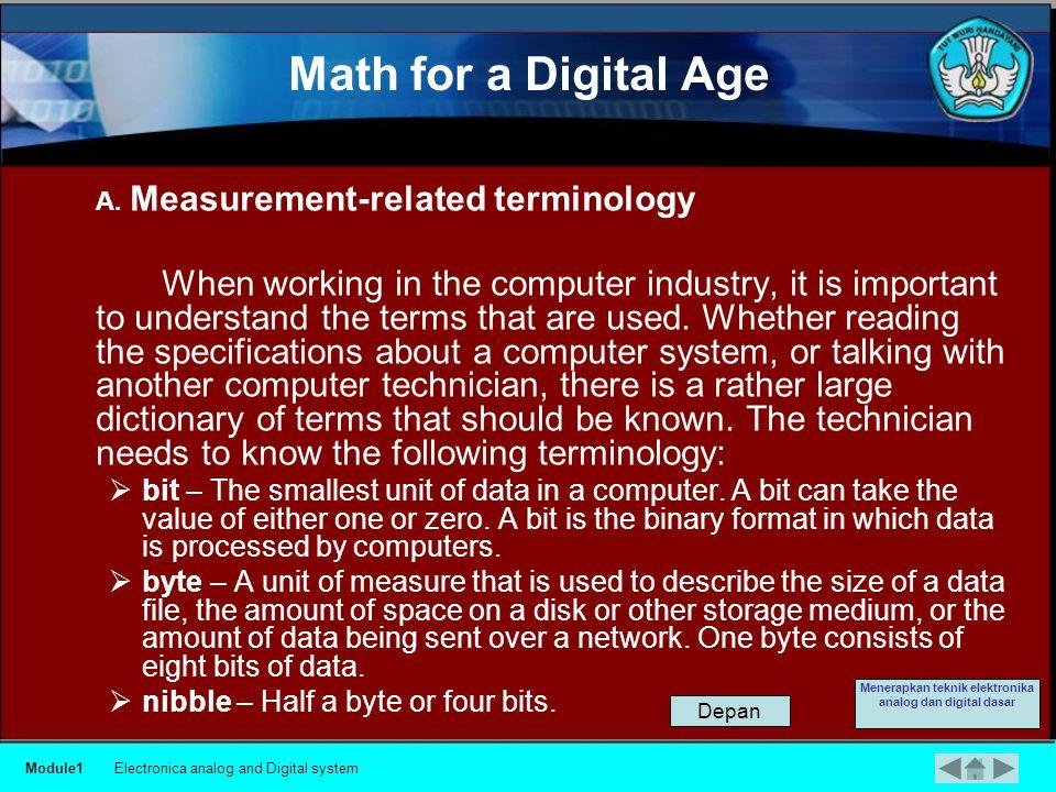 Module1Electronica analog and Digital system Menerapkan teknik elektronika analog dan digital dasar