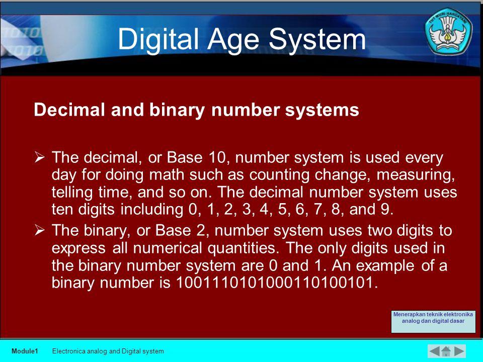 Boolean Logic Module1Electronica analog and Digital system Menerapkan teknik elektronika analog dan digital dasar