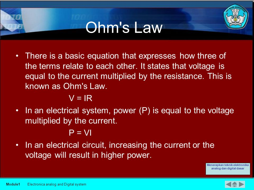 Definition Power is a measure of the pressure required to push electrons through a circuit, called voltage, multiplied by the number of electrons going through that circuit, called current.