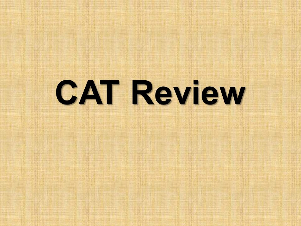 CAT Review