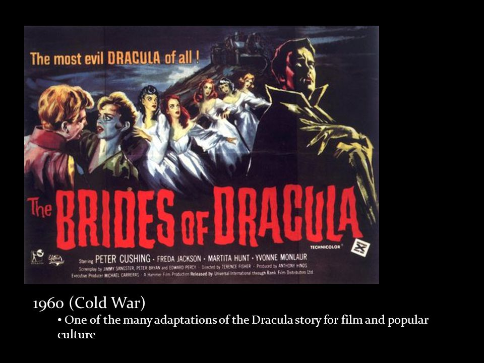 1960 (Cold War) One of the many adaptations of the Dracula story for film and popular culture