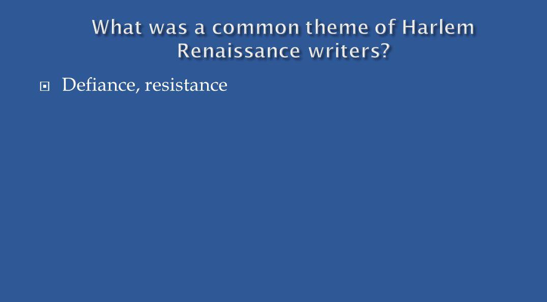  Defiance, resistance