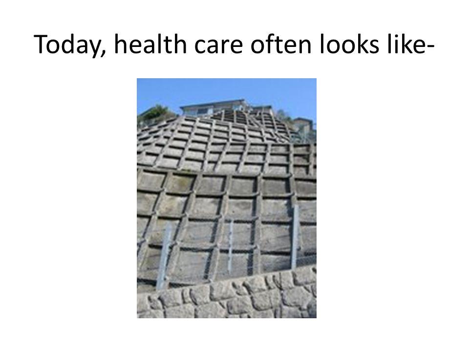 Today, health care often looks like-