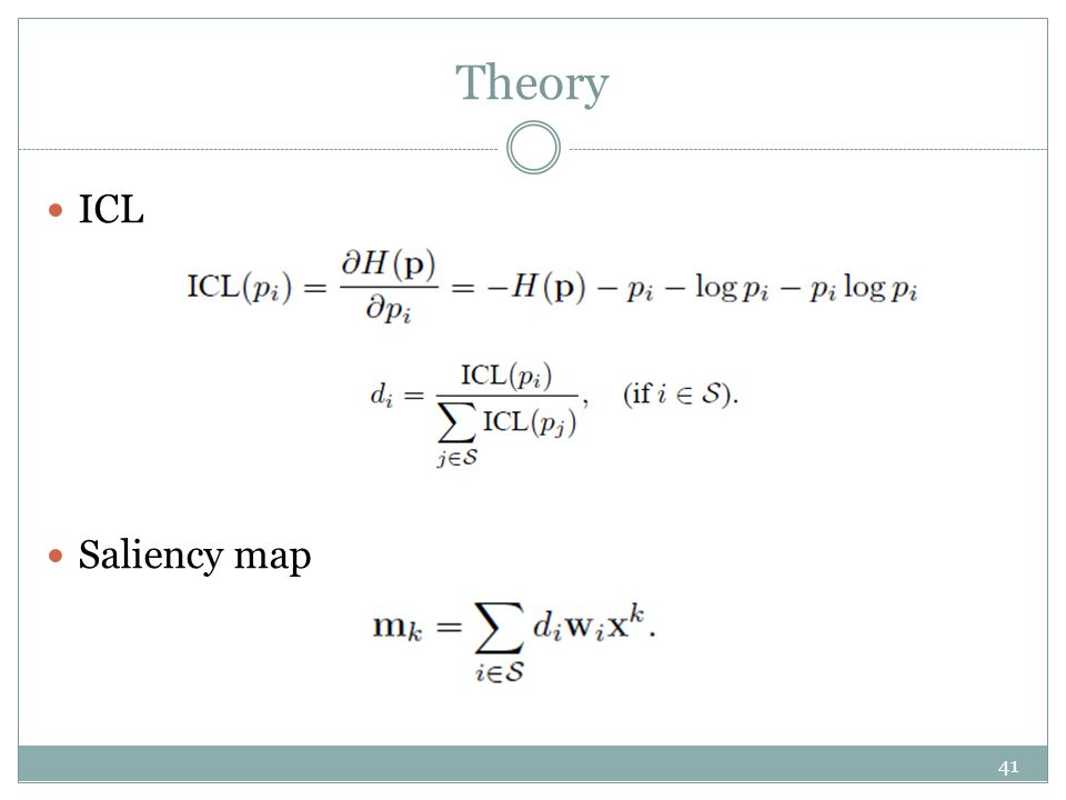 Theory ICL Saliency map 41