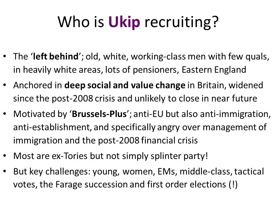 Who is Ukip recruiting.