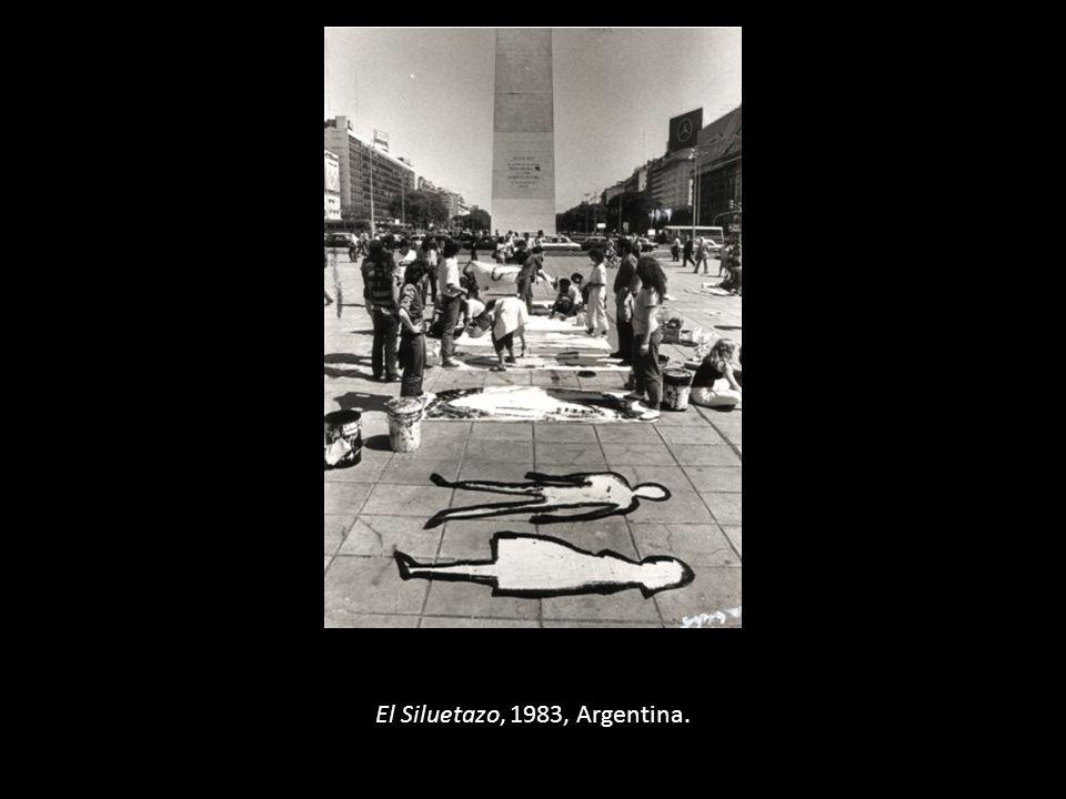 El Siluetazo, 1983, Argentina.