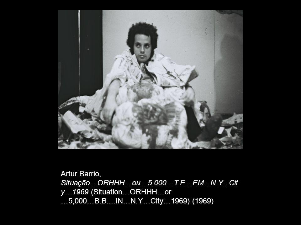 Artur Barrio, Situação…ORHHH…ou…5.000…T.E…EM...N.Y...Cit y…1969 (Situation…ORHHH…or …5,000…B.B....IN…N.Y…City…1969) (1969)